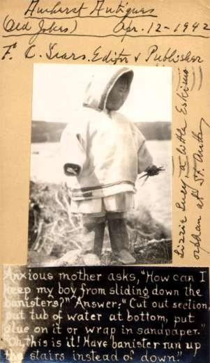 Little Eskimo Orphan Real Photo