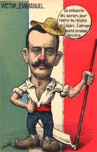 Italian King Victor Emmanuel Satire