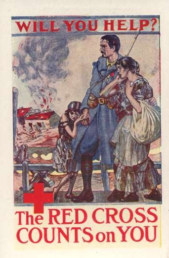 WWI Soldier Red Cross