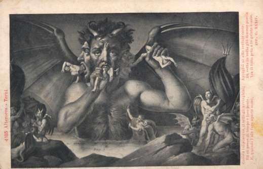 Three-Headed Devil Crushing Bodies
