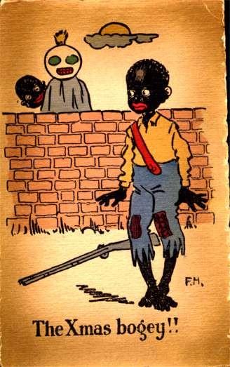 Scared Black Child Rifle Christmas