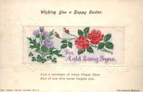 Flower Roses Thiestle Easter Woven Silk
