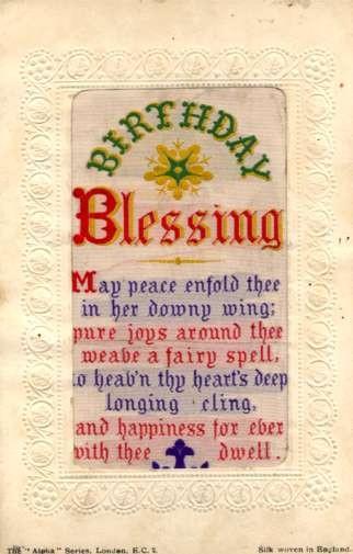Woven Silk Birthday Poem