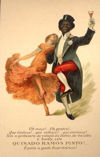 Black Cakewalk Dance Wine Advertising