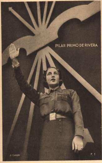 Military Woman Saluting Spanish Civil War