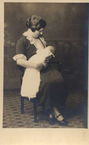 Nursing Mother Adoring Baby Real Photo