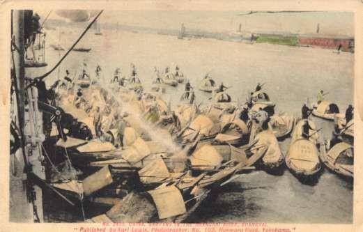 Karl Lewis China Sampans in Shanghai River