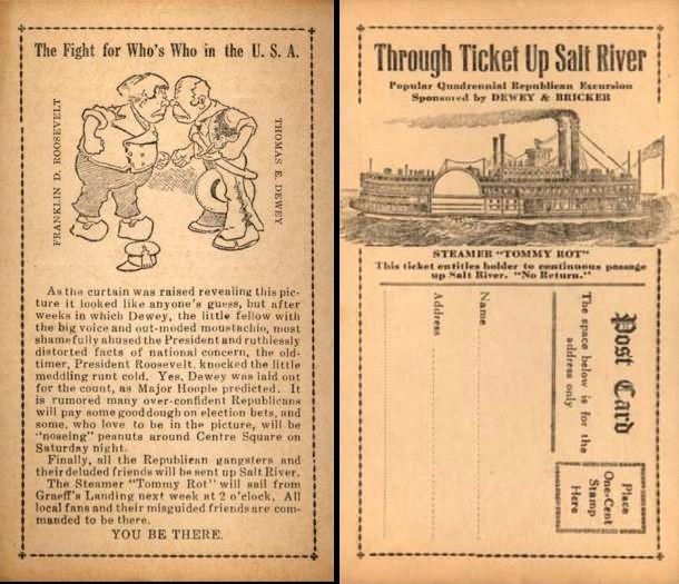 Fighting President Roosevelt Dewey Steamboat