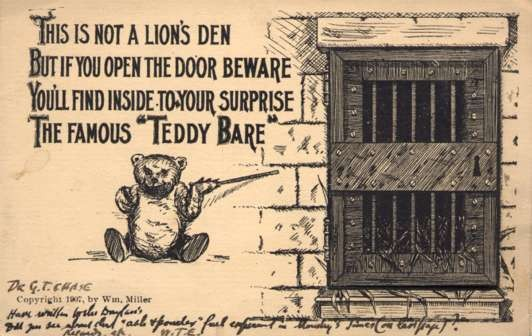 Teddy Bear by Door Hiding Poem Foldout