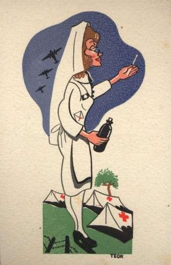 Red Cross Nurse Spanish Civil War