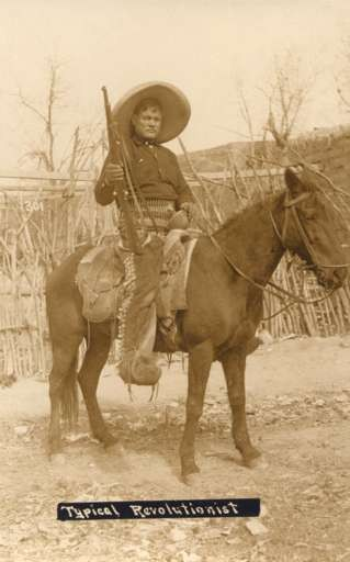 Mexican Revolutionist on Horse Real Photo