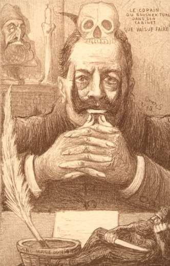 Skull on Kaiser's Wilhelm II Turkish Atrocities