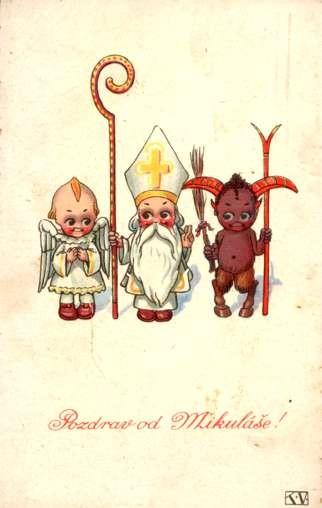 Children St. Nicholas Black Krampus Angel