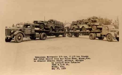 Trucks Advertising Air Force Base Miami RP