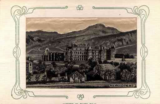 Scotland Edinburgh Holyrood Palace Woven Silk