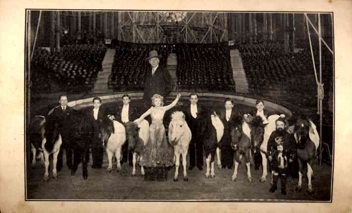 Royal Midget Circus on Stage with Ponies