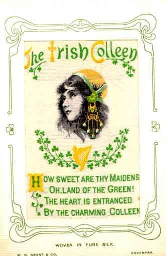 Irish Maiden Poem Woven Silk