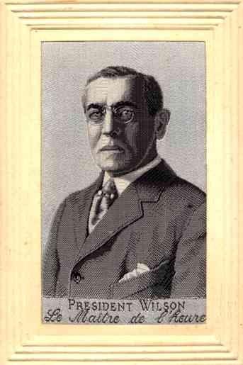 Portrait of President Wilson Woven Silk