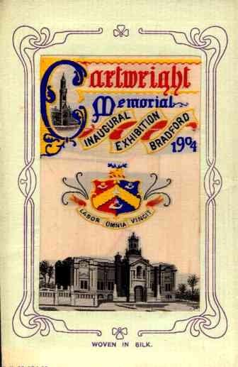 UK England Bradford Exhibition 1904 Woven Silk