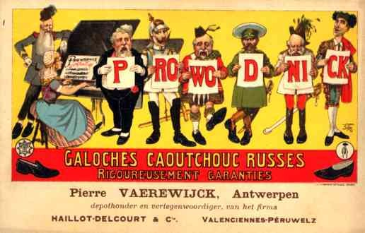 Kaiser Wilhelm Dutch Playing Piano Advert Galoshes
