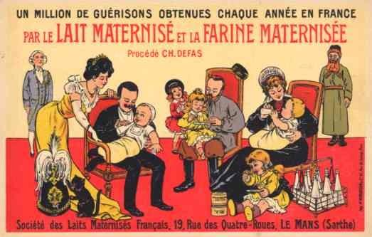 Kaiser Wilhelm Tsar Tsarina Feeding Babies Advert