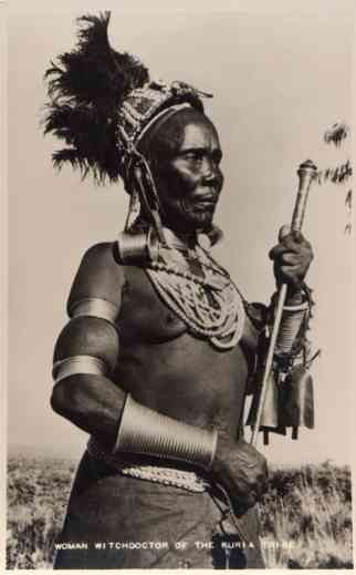 Black Woman Witch Doctor Real Photo