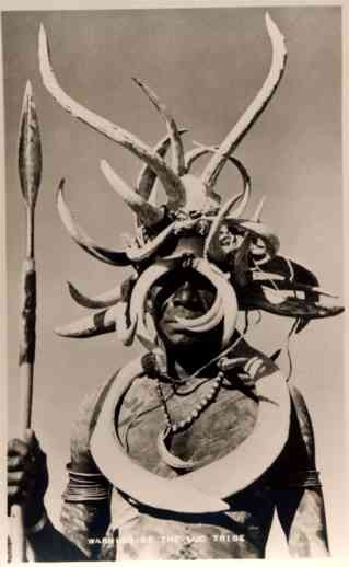African Warrior of Luo Tribe Real Photo