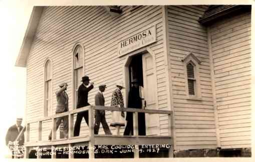President Coolidge Entering Chuch RP