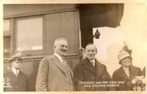 President Coolidge Senator Norbeck RP