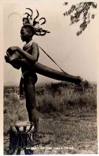 Africa Drummer of Kuria Tribe Real Photo
