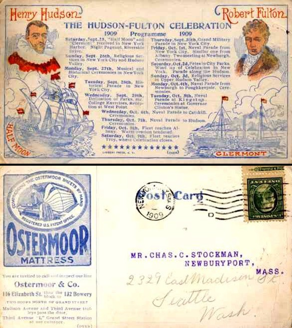 Hudson-Fulton Expo 1909 Program Sailboats