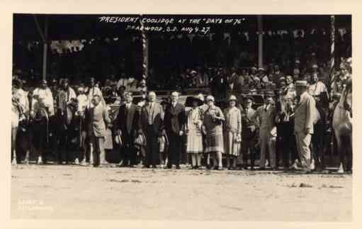 President Coolidge Indians on Horses Deadwood RP