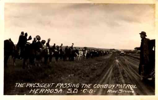 President Coolidge Passing Cowboys RP
