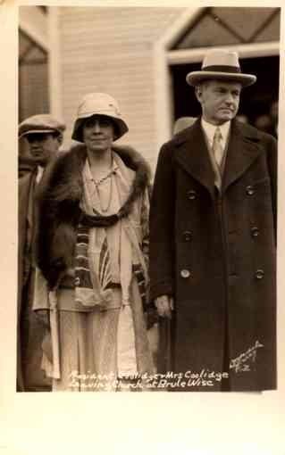 President Coolidge Leaving Church RP