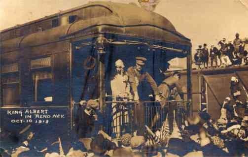 King Albert on Train Nevada Real Photo
