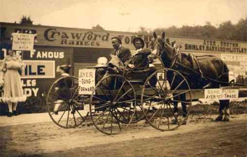 Black Faces in Cart Horse Suffragette Real Photo