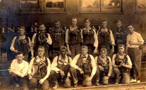 Mine Rescue Team Blacks Real Photo