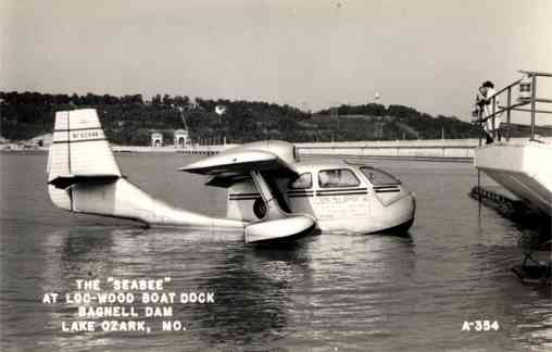 Commercial Hydroplane on Lake Real Photo