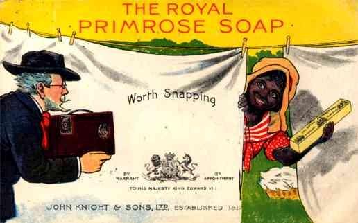 Smiling Black Laundry Linens Royal Soap Advert