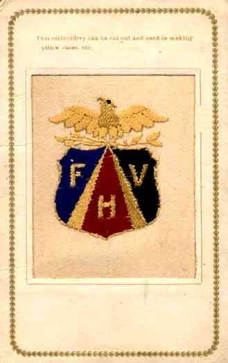 Embroidered Silk Eagle Over Fraternal Symbol