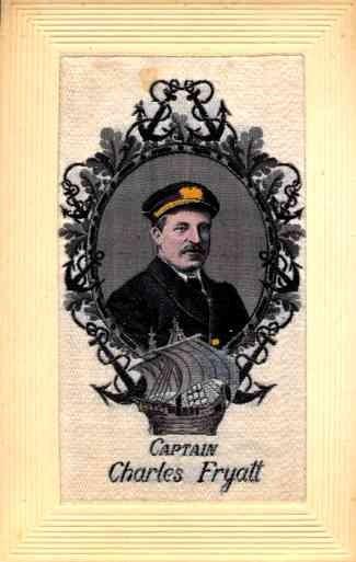 Woven Silk Captain Fryatt Ship Sailboat WWI