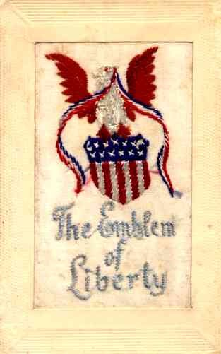 Embroidered Silk Eagle Patriotic