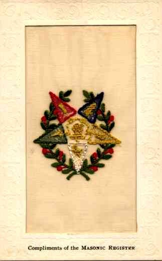Embroidered Silk Order of the Eastern Star Fraternal