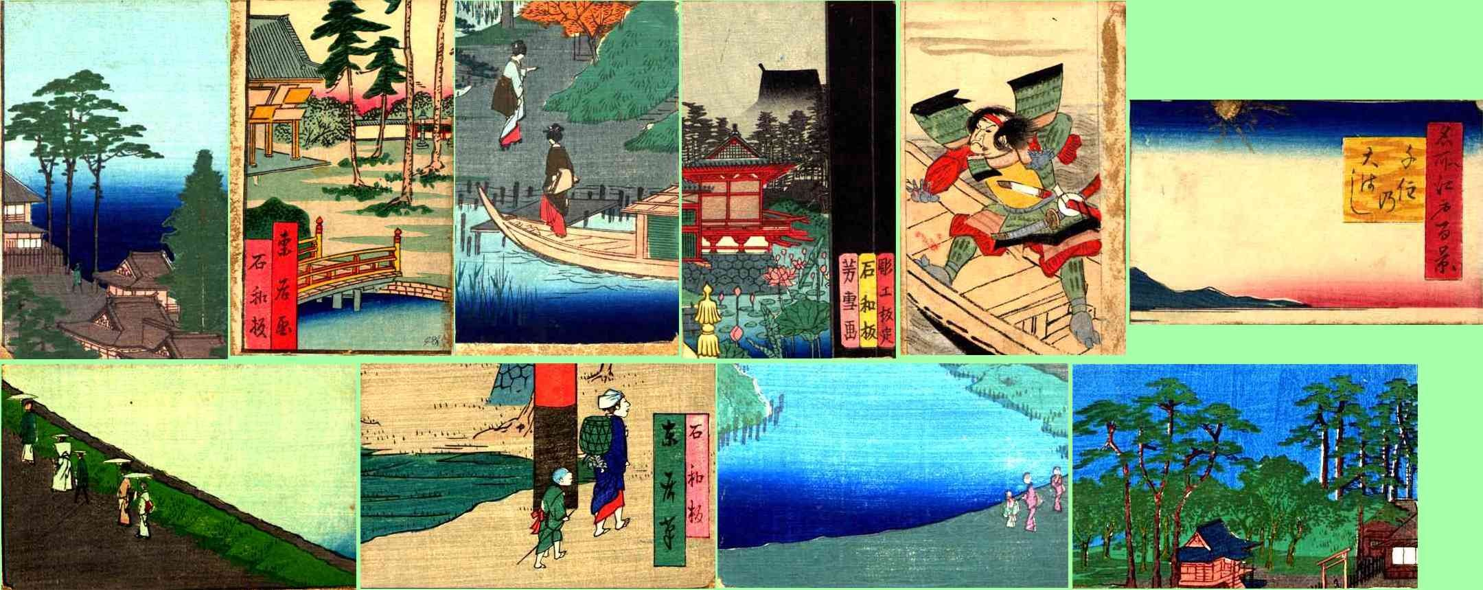 Japanese Life Set of Ten Woodblock