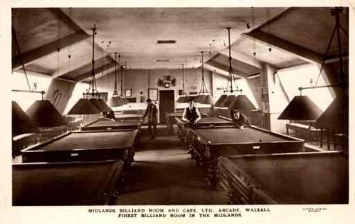 England Billiards Room Real Photo
