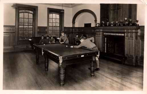 Boy Playing Billiards Real Photo
