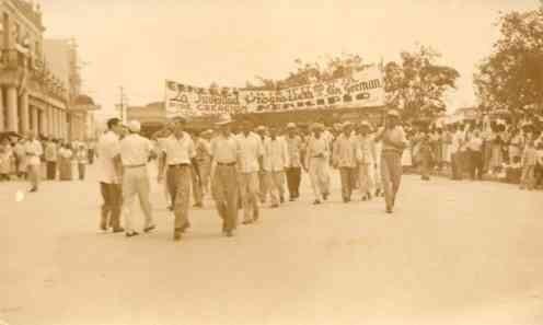 Cuba Political March Real Photo