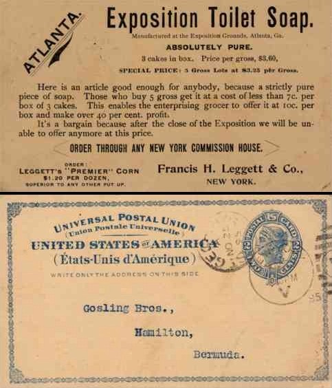 Advert Exposition Toilet Soap NYC Pioneer