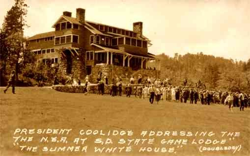 President Coolidge at State Game Lodge RP