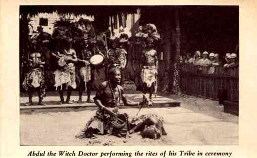 Black Witch Doctor Showing Skills at Chicago Expo